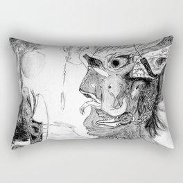 Human with animals Rectangular Pillow