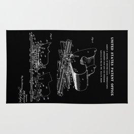 Roller Coaster Patent - Black Rug