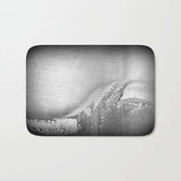 Black and White | Ahoy! Sea Monster on Port Side! (No.9 Textile Series) Bath Mat