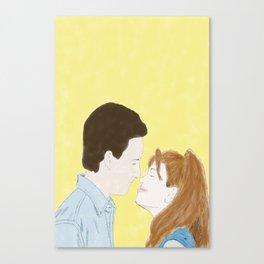 Cory & Topanga (Boy Meets World) - Watercolor Canvas Print
