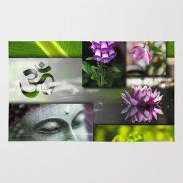 Buddha & Chakra Zen Collage Rug