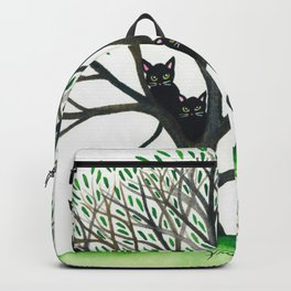 Borders Whimsical Cats in Tree Backpack