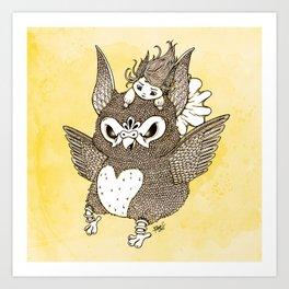 Squawker Art Print