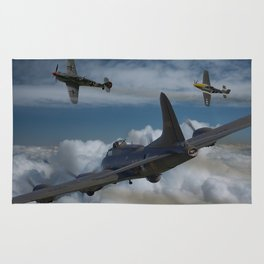 B17 and Fighter escort Rug