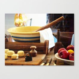 Tonight's Apple Pie and Soda Biscuts Canvas Print