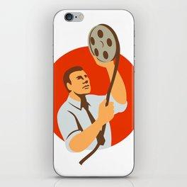 Film Editor Looking at Reel Retro iPhone Skin