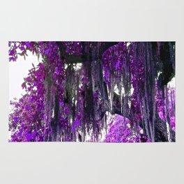 Trees Purple Moss Rug