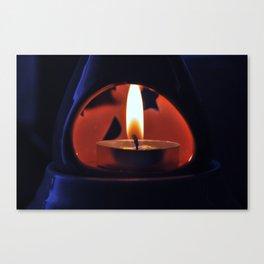 Fire in the Dark Canvas Print