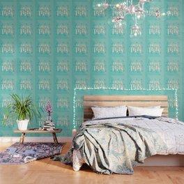 Enjoy Today – Mint & Gold Palette Wallpaper
