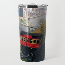An Autumn Day on the Duquesne Incline in Pittsburgh, Pennsylvania Travel Mug