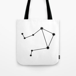 Libra Astrology Star Sign Minimal Tote Bag