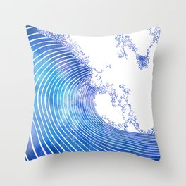 Pacific Waves III Throw Pillow