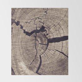 Cracks in Time Throw Blanket