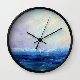 Indigo Seascape Oil painting Wall Clock
