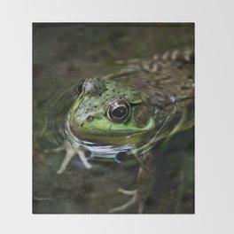 Frog Floating Throw Blanket