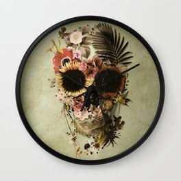 Garden Skull Light Wall Clock