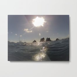 Ocean view, Indians Rock Formation, Brittish Virgin Islands Metal Print
