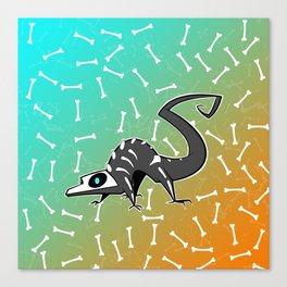 Spooky Skelelizard Canvas Print