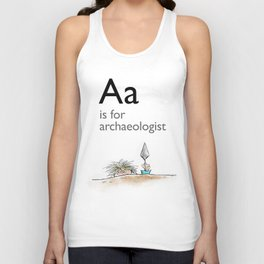 A is for Archaeology Unisex Tank Top