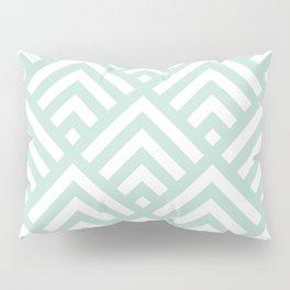 Turquoise Blue geometric art deco diamond pattern Pillow Sham