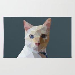 Geometric cat Lucifur Rug