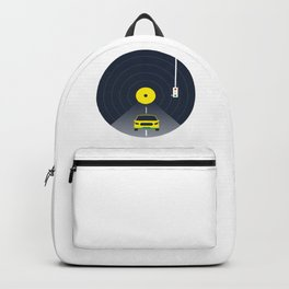Music car and vinyl Backpack