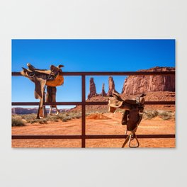 Saddle up in Wild West Canvas Print