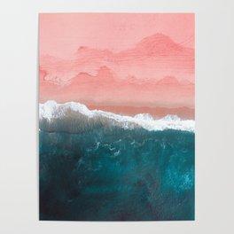 Turquoise Sea Pastel Beach II Poster