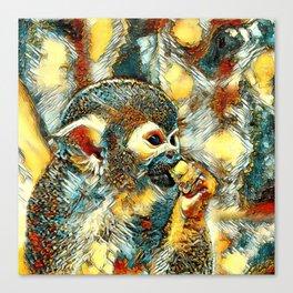AnimalArt_Monkey_20180203_by_JAMColors Canvas Print