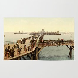 1890 Victorian Jetty in Margate Kent Rug