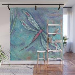 Turquoise Aqua Dragonfly Wall Mural