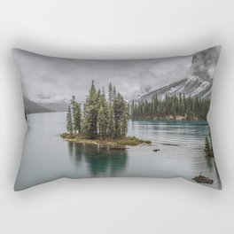 Landscape Maligne Lake Photography | Alberta | Canada Rectangular Pillow
