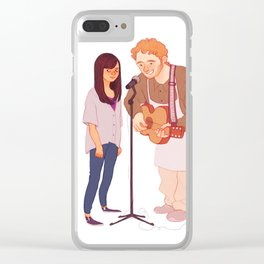 Andy & April Clear iPhone Case