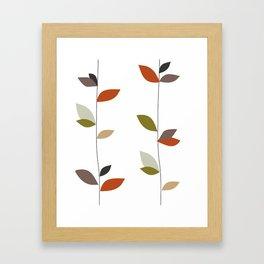 Leaf Pattern Design Framed Art Print