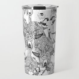 just goats black white Travel Mug