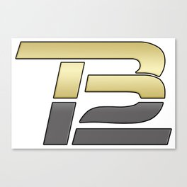 TB12 Gold and Grey Canvas Print