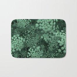 Green Laceflower Bath Mat