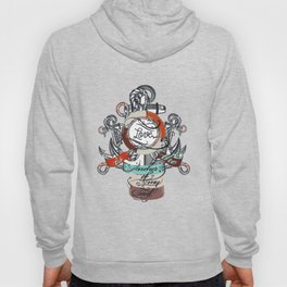 Beautiful marine design, vacation theme with anchor Hoody