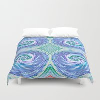 bread Duvet Covers featuring Bread Basket by Truly Juel