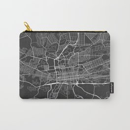 Johannesburg Map, South Africa - Gray Carry-All Pouch