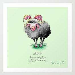 Triste dyr: Nedfår Art Print