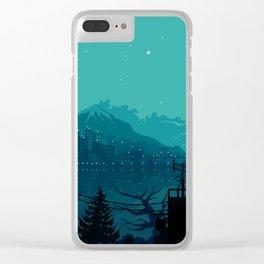 Dark Harbor Clear iPhone Case