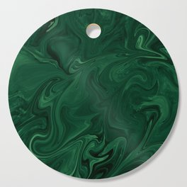 Modern Cotemporary Emerald Green Abstract Cutting Board