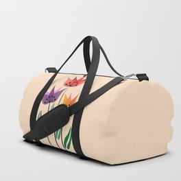 Retro tulips Duffle Bag