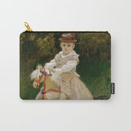 """Claude Monet """"Jean Monet (1867–1913) on His Hobby Horse"""" Carry-All Pouch"""