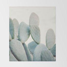 Pastel Cactus Throw Blanket