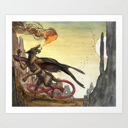 The Demon, Marchosias Art Print