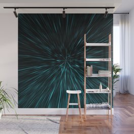 Blue and black Hypergalaxy Wall Mural