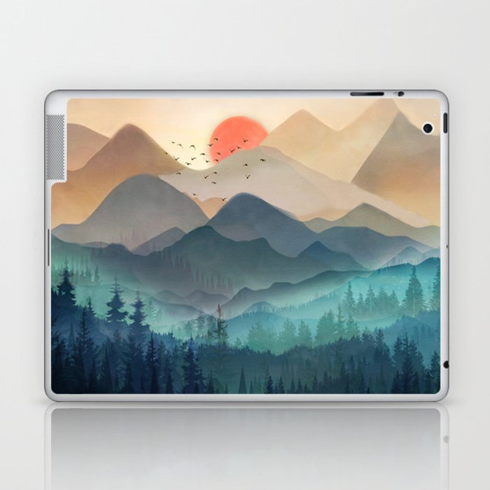 Wilderness Becomes Alive at Night Laptop & iPad Skin