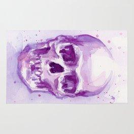 Skull Watercolor Purple Pink Skulls Rug